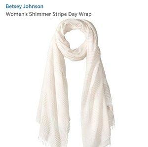 Betsey Johnson shimmer stripe day wrap new in bag